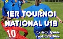 1er tournoi national U19 à Yzeure les 11 et 12 juin ce week-end