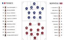 Bleues - FRANCE - NORVEGE : un changement, GAUVIN titulaire, CASCARINO sur le banc