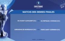 Coupe de France - Le tirage des demi-finales : GUINGAMP - LYON et BORDEAUX- PSG