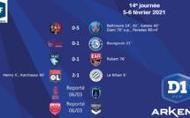 #D1Arkema - J14 : l'OL reste à portée du PSG, Soyaux renoue avec la victoire, Issy et Le Havre toujours dans le dur